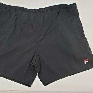 FILA Men's Size XL Black Nylon Swim Shorts